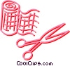 bandages and scissors Vector Clipart picture