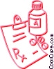 Vector Clip Art image  of a prescription drugs