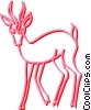 Vector Clipart image  of a deer