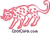 Vector Clip Art graphic  of a leopard