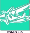 prop plane Vector Clipart illustration