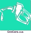 gasoline pump Vector Clip Art picture