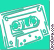 cassette tape Vector Clip Art graphic