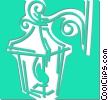 Vector Clip Art graphic  of a outdoor lamp