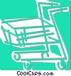 Vector Clip Art image  of a grocery cart