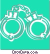 Vector Clip Art image  of a handcuffs