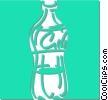 Vector Clip Art graphic  of a pop bottle