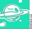 Vector Clip Art picture  of a planets