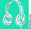 headphones Vector Clip Art picture