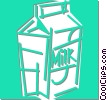 carton of milk Vector Clip Art picture