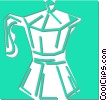 Vector Clipart graphic  of a coffee pot