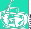 Vector Clipart graphic  of a mini stereo system