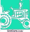 Vector Clip Art graphic  of a tractor