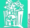 Vector Clip Art image  of a pop corn