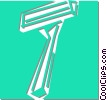 Vector Clip Art image  of a safety razor
