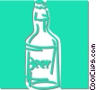 Vector Clipart graphic  of a bottle of beer
