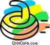 curling rock Vector Clipart picture