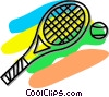 tennis racket and ball Vector Clip Art picture