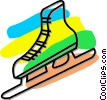 Vector Clipart graphic  of a ice skate