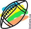 football Vector Clip Art graphic