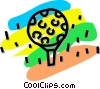 golf ball on a tee Vector Clipart picture