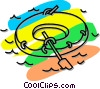 rubber boat Vector Clipart illustration