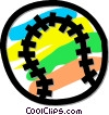Vector Clip Art image  of a baseball