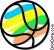 Vector Clipart graphic  of a basketball