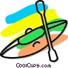 Vector Clipart picture  of a kayak