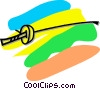 Vector Clipart graphic  of a fencing foil