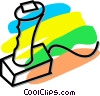 Vector Clip Art picture  of a computer joystick