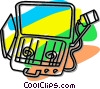 Vector Clip Art graphic  of a propane camping stove