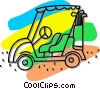 Vector Clip Art image  of a electric golf cart