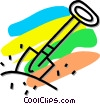 shovel Vector Clip Art graphic