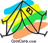 Vector Clip Art picture  of a camping tent