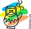 teapot Vector Clip Art image