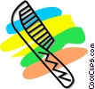Vector Clip Art graphic  of a hair comb