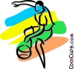 basketball player Vector Clipart illustration