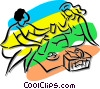 Vector Clipart graphic  of a couple having a picnic