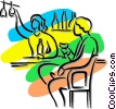 person sitting at the bar Vector Clipart illustration