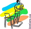 Vector Clip Art graphic  of a lifeguard