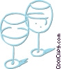 Vector Clip Art image  of a wine glasses