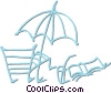 Vector Clip Art graphic  of a beach gear