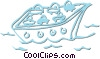Vector Clipart illustration  of a ferry boat