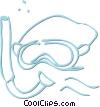 diving equipment Vector Clipart image