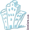 Vector Clipart graphic  of an apartment buildings