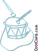 Vector Clip Art image  of a drum