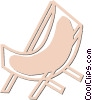 deck chair Vector Clipart picture