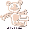 Vector Clipart image  of a teddy bear