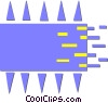 processor chip Vector Clipart image